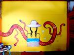 """Fresque """"Le serpent d'amour"""""""